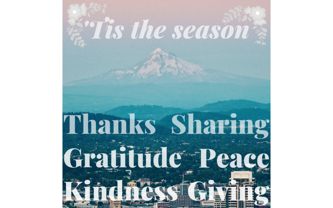 'Tis the Season for Gratitude!